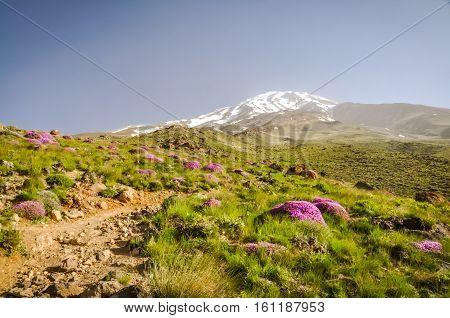Stratovolcano Mount Damavand