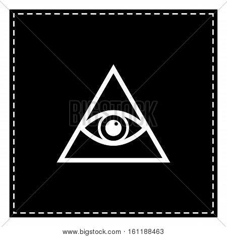 All Seeing Eye Pyramid Symbol. Freemason And Spiritual. Black Pa