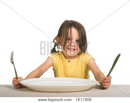 Girl With Plate 2