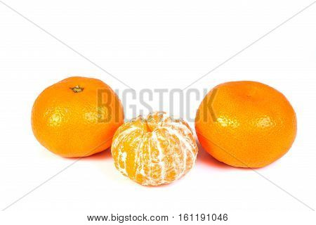 Fresh clementine isolated on whita background, isolated objects