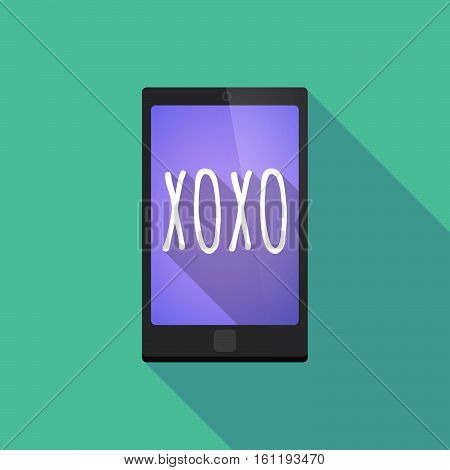 Long Shadow Smart Phone With    The Text Xoxo