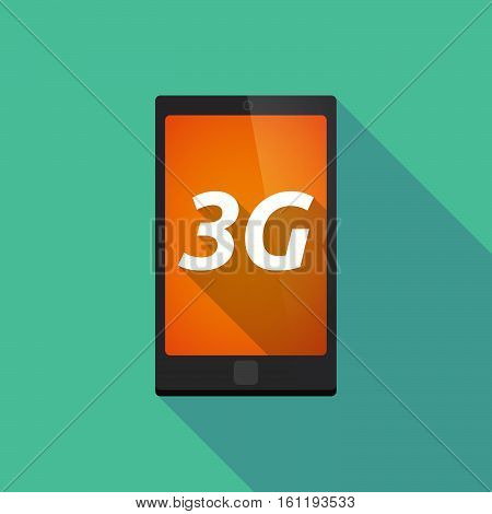 Long Shadow Smart Phone With    The Text 3G