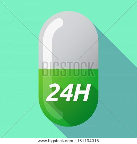 Long Shadow Medical Pill With    The Text 24H