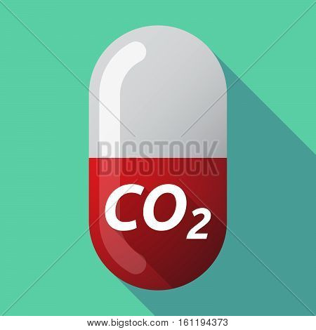 Long Shadow Medical Pill With    The Text Co2