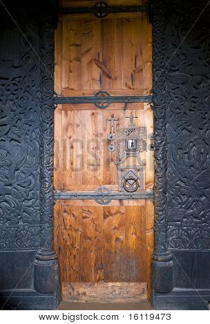 door, Hedal Stavkirke, Norway