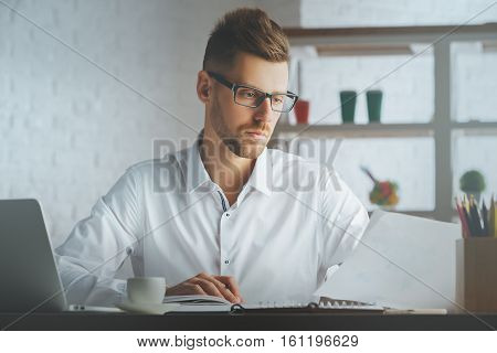 Handsome Boy With Document