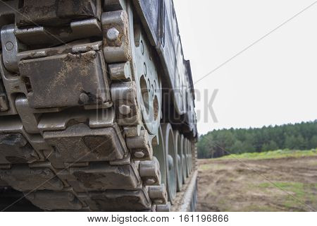 tank chain from a german main battle tank