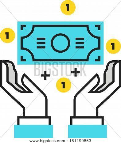 Color Box Icon, Wealth, Salary Concept Illustration, Icon
