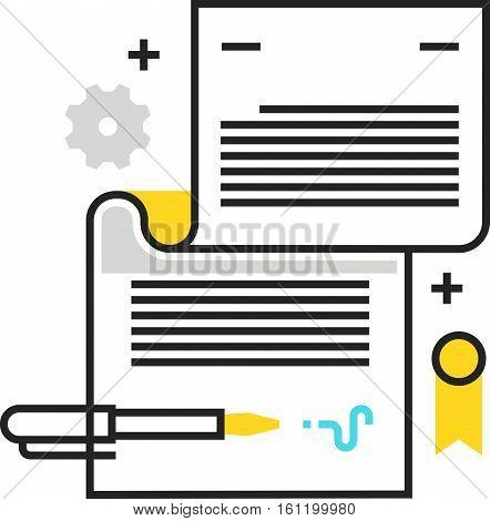 Color Box Icon, Legal Documents Concept Illustration, Icon