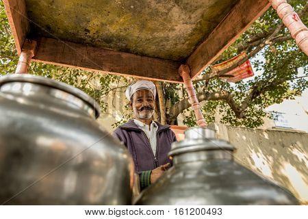 Muslim Indian seller of Masala Tea