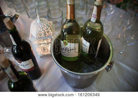 Wroclaw, Poland June 04 2016, Carlo Rossi Wine In Wedding