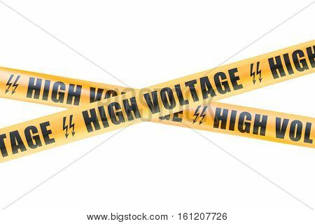 High Voltage Barrier Tapes 3D rendering isolated on white background