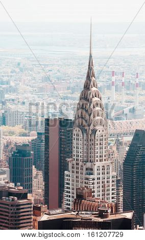 Manhattan Streets And Roofs With Chrysler Building