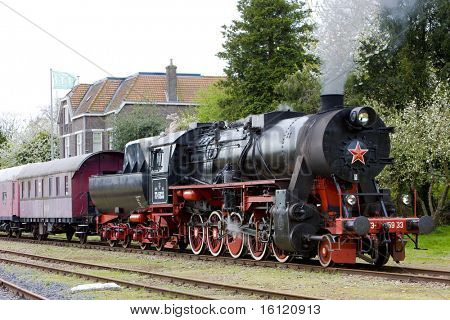 steam train, Veendam - Stadskanaal, Netherlands poster