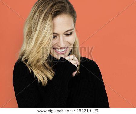 Caucasion Woman Casual Confident Concept