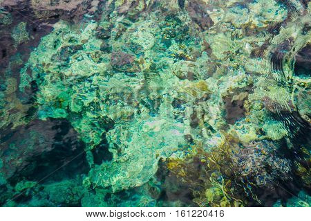 turquoise water background red sea pattern view
