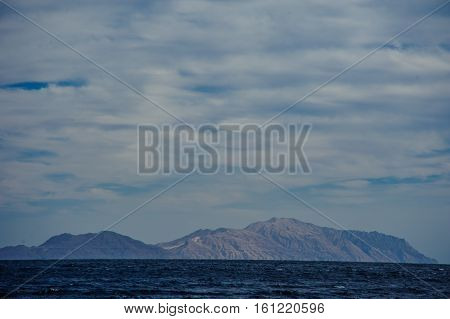 mountain turquoise sea background view tropical background