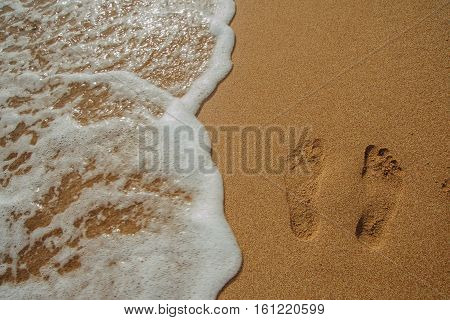 legs of child on the sand beach red sea nice tropical view