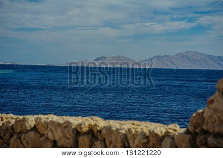 mountain turquoise sea background view tropical view