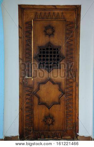 antique door arab stile vintage old ornament