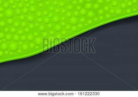 illustration of green bubbled slime with shadow on dark background