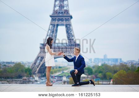 Romantic Engagement In Paris