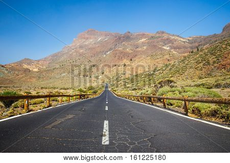 Highland highway in Tenerife Canary Island Spain