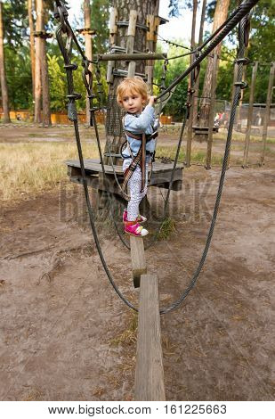 Little Girl Overcomes Obstacles.