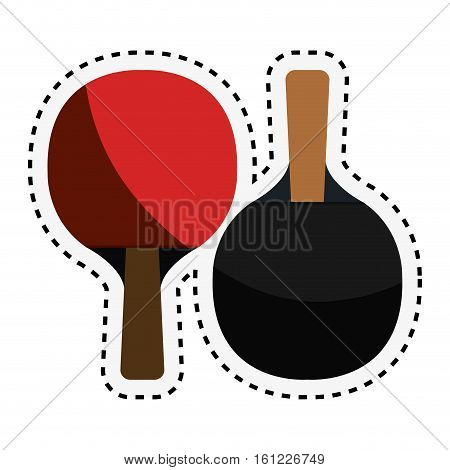 ping pong rackets icon vector illustration design