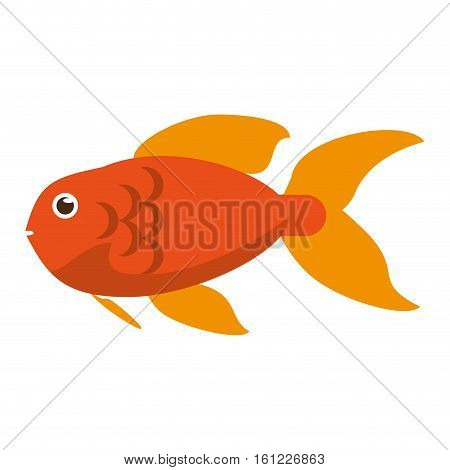 Fish animal cartoon icon. Sea life ecosystem fauna and ocean theme. Isolated design. Vector illustration