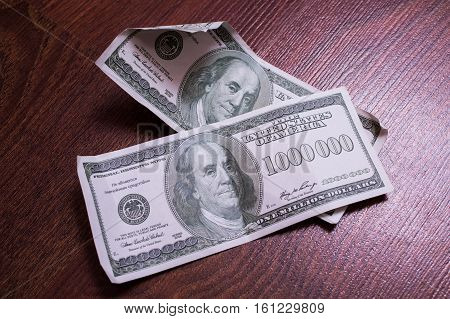 bill of one million dollars a new brilliant idea a million dollars the thirst for wealth success get rich millionaire background of the money very rare banknote