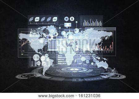 Network community background . Mixed media