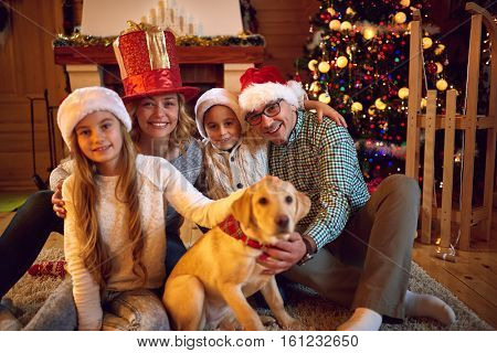 Christmas time spent with family-Young Family Together
