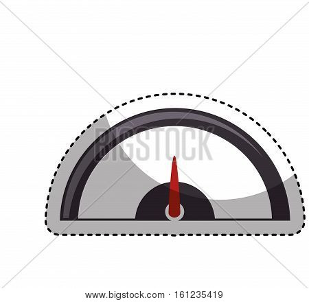 pressure gauge isolated icon vector illustration design