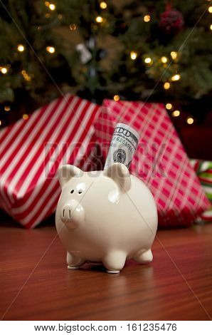 The Cost Of Christmas - A Piggy Bank Full Of Money
