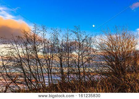 Rock port landscape in Maringouin Peninsula, New Brunswick, Canada