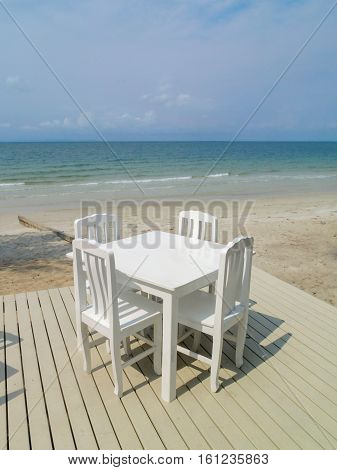The seat on the beach to relax