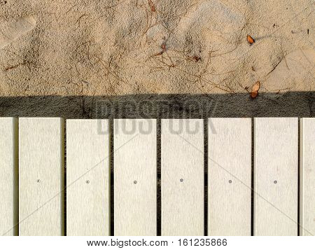 The Background of Wooden walkway White , on the beach
