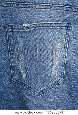 Back jeans pocket