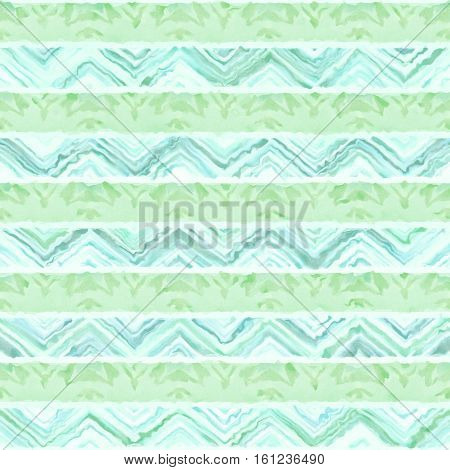 Native watercolor artistic colorful pattern. Ethnic boho style. Seamless draw tribal square texture.
