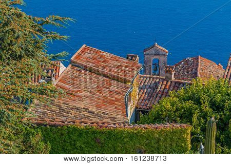 Medieval Rooftops In Eze Village In France