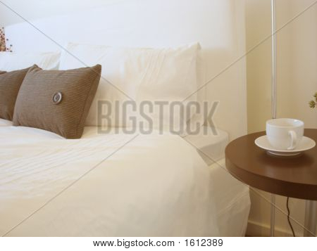Bedside Table With Cup
