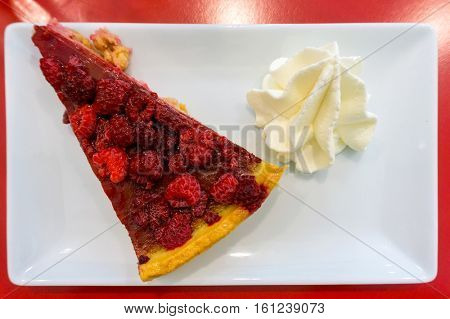 one slice of pie dessert ready to eat