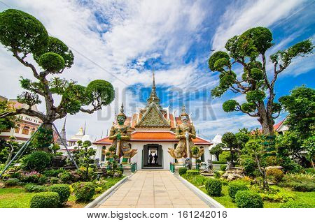 Wat Arun is a Buddhist temple in Bangkok Yai district of Bangkok, Thailand