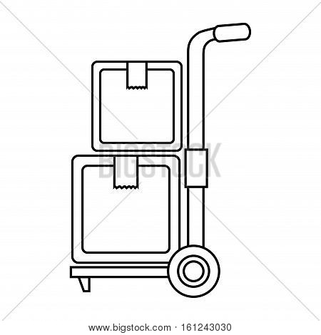 cart boxes delivery icon vector illustration design