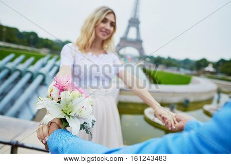 Just Married Couple In Paris, France