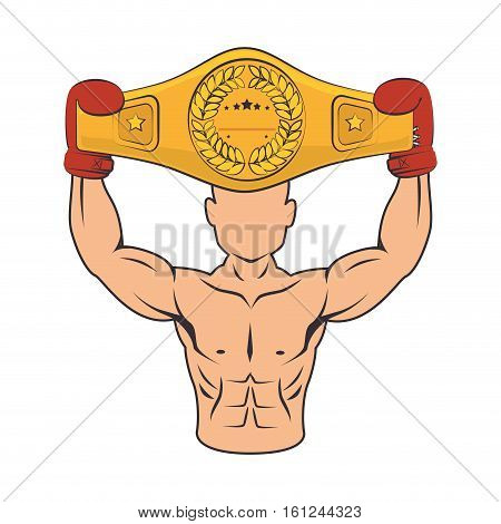 boxer silhouette avatar icon vector illustration design