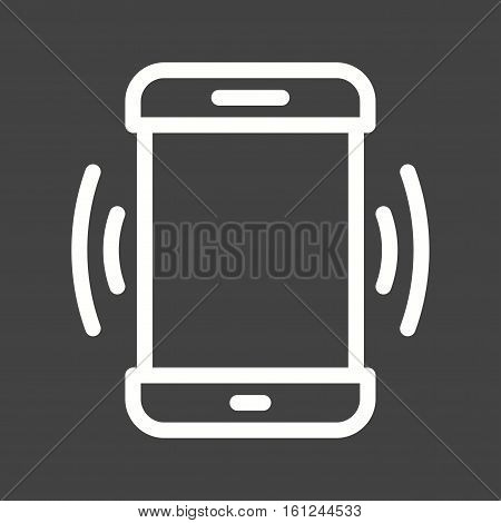 Mode, mobile, vibrate icon vector image. Can also be used for smartphone. Suitable for use on web apps, mobile apps and print media