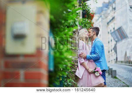 Couple On Montmartre In Paris, France