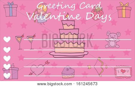 Background card valentine vector art collection stock